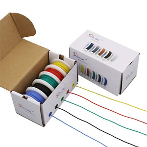 Strivedayflexible Silicone Wire 24awg Electric Wire 24 Gauge Coper Hook Up Wire