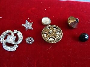 Vintage Lot Of 7 Rare Buttons