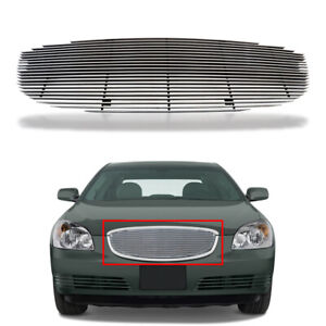For 2006 2009 Buick Lucerne Chrome Billet Grille Grill Main Upper Aluminum Grill