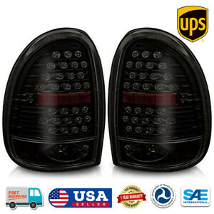 Led Rear Lamps Tail Lights For 1996 2000 Dodge Chrysler Plymouth Black Smoke