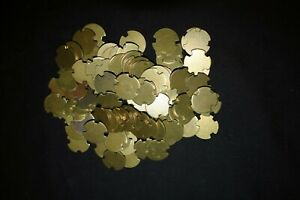 W26. LOT OF 300 BRASS SLOT TOKENS AVAILABLE TO CUSTOMERS FOR GOLF OTHER $100.00