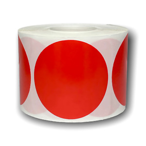 2 Round Red Coding Stickers Dots Sale Warehouse Inventory Labels 100 roll