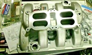 Edelbrock Intake Manifold For 5 7 Hemi 03 08 2 Carburetor Dual Quad Rpm Air Gap