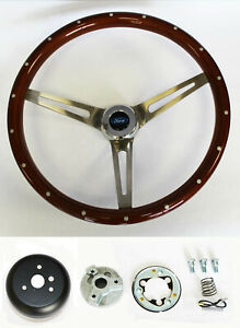 1958 1963 Ford Ranchero Rivet Wood 15 Steering Wheel Cap Kit High Gloss Finish