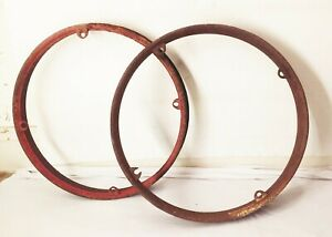 Vtg Antique Original Model T Ford 23 Wood Spoke Rim Wheel Clinch Cinch Ring