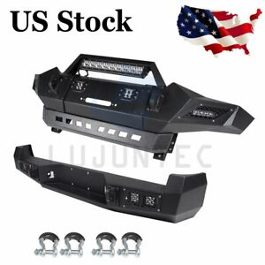 Front Rear Bumper For Toyota Tacoma 2005 2015 W Led Lights D rings Steel