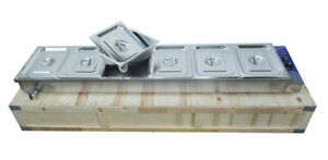 110v 6 well Commercial Buffet Food Warmer Food Insulation Equipment Usa 190223