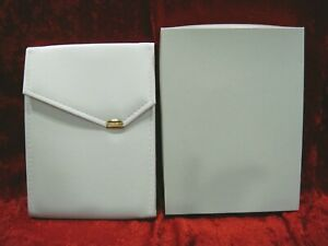 18 White Leatherette Necklace Folders Pearl Display Presentation Boxes Jewelry