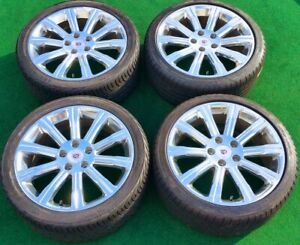 Factory Cadillac Ats Sedan Wheels Tires Set 4 Genuine Oem Forged 18 In Polished
