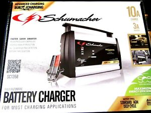 Schumacher 10 Amp Battery Charger 3 Amp Maintainer Sc1358