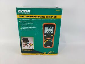 Extech 382252 Earth Ground Resistance Tester Kit Brand New