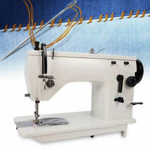 Industrial Sewing Machine Embroidered curved Seam White Walking Foot Leather