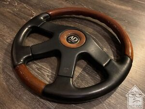 Altezza Disegno 360mm Leather Wood Steering Wheel Jdm Nardi Momo Italy Vip