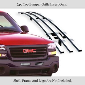 Fits 2003 2006 Gmc Sierra 1500 2500hd 3500 Stainless Bumper Chrome Billet Grille