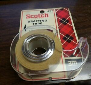 Vintage 3m Scotch Drafting Tape Dispenser Roll 3 4 172 Brand New Old Stock