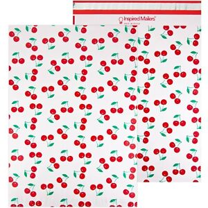 Cherries Printed Large Poly Mailers 14 5x19 Pack Of 50