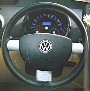 Genuine Vw Beetle Cabrio Cabriolet Steering Wheel Leather Black 1c0419091cge74