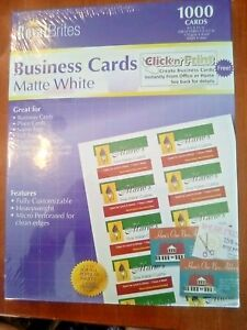Royal Brites Business Cards Matte White 2 X 3 5 Inches 1000 Cards