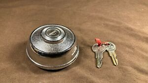 Vintage Locking Gas Tank Cap With Keys Buick Ford Chrysler Chevrolet Lincoln