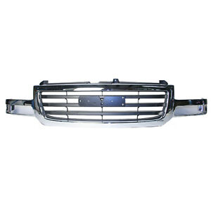 New Front Grille Fits 2003 2006 Gmc Sierra 19130791