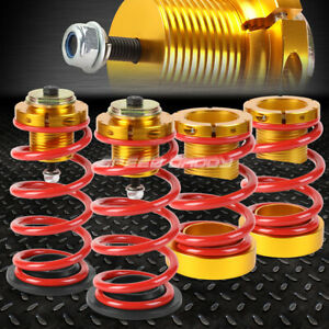 For 06 11 Honda Civic 1 4 Adjustable Red Spring Coilover Suspension Lowering