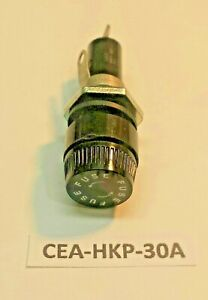 Cea hkp30a Bayonet Cap Panel Mount 3ag Agc Fuse Holder Fits In 1 2 Hole