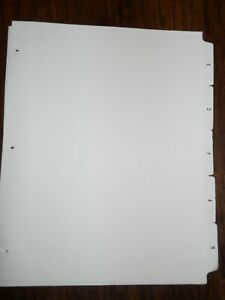 Large Number Tabs 1 To 5 White Tab Dividers 8 5 X 11