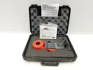 Aemc 3711 Clamp on Ground Resistance Tester Meter W Case Accessories