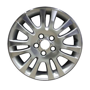 New 17x6 5 Alloy Wheel 14 Spoke Bright Sparkle Silver With A Machined Face