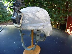 LARGE L 7 SDS ACH Helmet named cat eye band ACU cover Norotos NVG Bracket amp; Arm $375.00