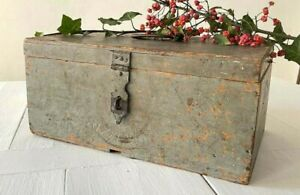 Antique French Wooden Shipping Store Display Box For Amidon Starch