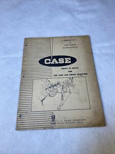 Case Tractor Draft o Matic 430 530 Series Parts Supplement Catalog