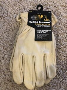 Wells Lamont Premium Cowhide Leather Work Gloves Large Nwt