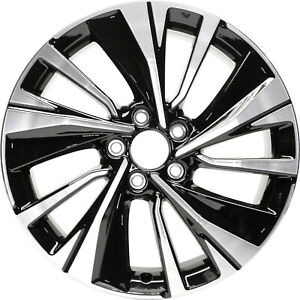18x8 10 Slot Refurbished Honda Aluminum Wheel Machined And Black 64081