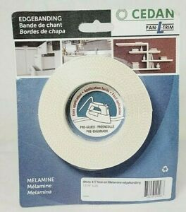 Cedan Iron On Melamine Edgebanding White 417 13 16 X 25