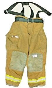 42x30 Globe Gxtreme Brown Firefighter Turnout Pants With Suspenders P1213