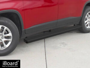 Iboard Running Boards 4 Inches Matte Black Fit 18 21 Chevy Traverse