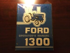 Ford 1300 Tractor Operator s Manual