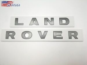 Iron gray Land Rover 3m Letters Hood Or Trunk Tailgate Emblem Badge Nameplate