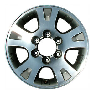 16x7 5 Slot Refurbished Nissan Aluminum Wheel Sparkle Silver Machined 62370