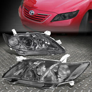 For 07 09 Toyota Camry Smoked Housing Clear Corner Projector Headlight Head Lamp