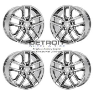 18 Jeep Grand Cherokee Pvd Bright Chrome Wheels H Rims Factory Oem 9156 Exch
