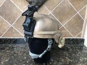 Camouflaged ACH Helmet Size Large NVG Mount Light $349.99