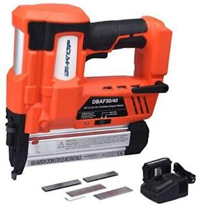 Cordless Nailer Stapler 2 In 1 18ga Heavy Tool With 18volt With 1 Battery