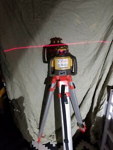 Topcon Rl h5a Self leveling Rotary Grade Laser Level W Tripod With