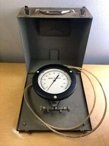 Vintage Wm Reese pressure Differential Gauge 0 100 Inches Of Water With Case Ak8