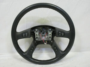 03 06 Chevy Silverado Steering Wheel Black Leather Sierra