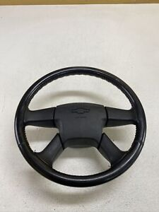 03 06 Chevy Silverado Gmc Sierra More Complete Steering Wheel Rare Oem Leather
