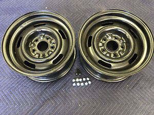 2 Nos Gm Chevy Rally Wheels 15 X 7 Date Code K192 8 20 Fwkelsey Hayes