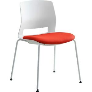 Lorell Chair Stackable 21 1 2 wx25 lx33 h 1 Bx ct White green 42950